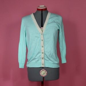 Size Large Aqua Fitted Cardigan The Limited